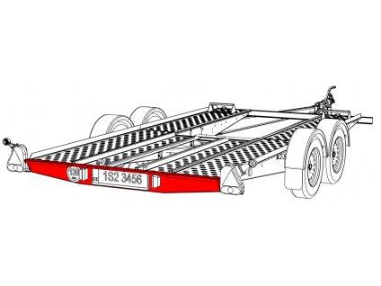 Nárazník zadní VAPP PA 1938mm zešikmený (od 2013)
