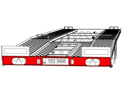 Nárazník zadní VAPP PAV 3,5/7.7/2.20 2200mm