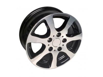 Disk Alu 6,0Jx14 H2 ET30 (5x112) OJ14-5 lesklý stříbrno-černý