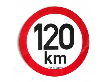 Omezení rychlosti 120 km retroreflexní pr. 200 mm