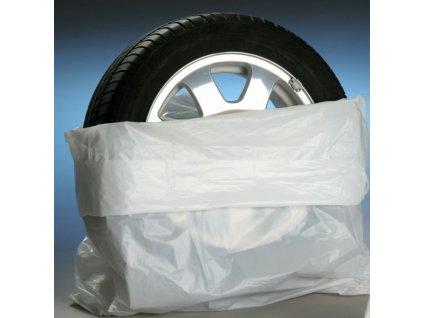 Bílé obaly na pneumatiky 100 ks