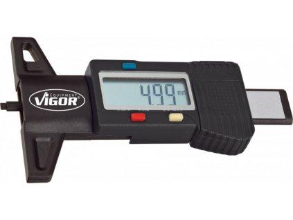 Digitální měřič hloubky dezénu pneumatik 0-27 mm VIGOR