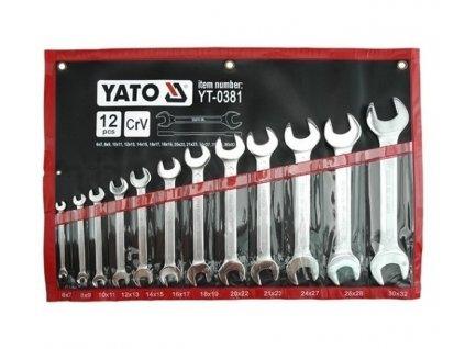Sada oboustranných plochých klíčů 12 ks 6 - 32 mm