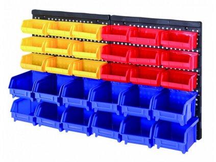 Plastový organizér na šrouby s 30 boxy