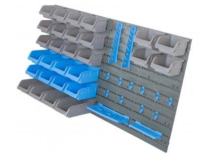 Závěsný organizér na šroubky s 44 ks plastových boxů