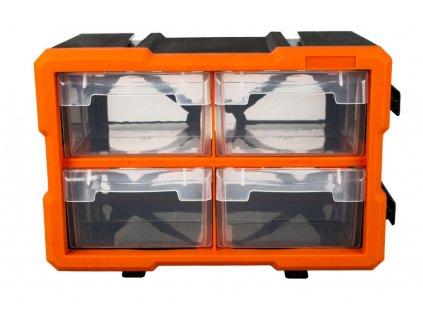Plastový organizér, 4 boxy - MW1804