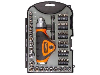 Ráčnový šroubovák s příslušenstvím 46 ks - TC900226