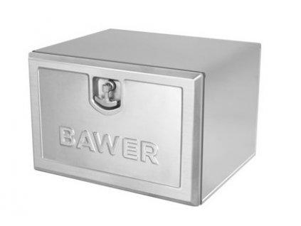 Bedna na nářadí BAWER E6 od 500mm, matný nerez