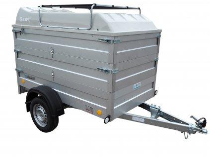 přívěsný vozík 2x nástavba a víko