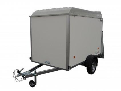 přívěsný vozík s víkem