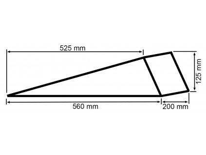 Nájezdová rampa plastová - 1ks