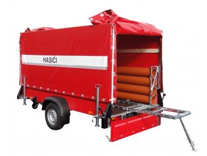 Nebrzděný přívěs pro hasiče ASP 750kg 2570x1300mm