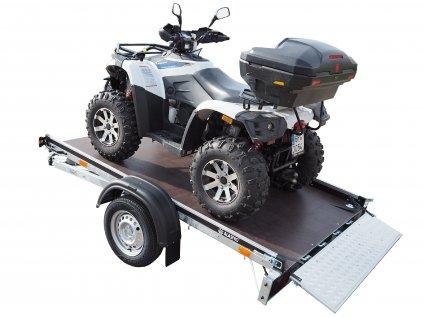 sklopné plato příívěsný vozík pro přepravu čtyřkolek, zahradních traktůrků, motorek, tříkolek