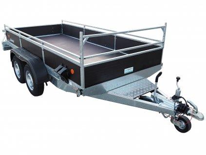 přívěsný vozík pro přepravu minibagrů, UNC a stavební mechanizace alaspro