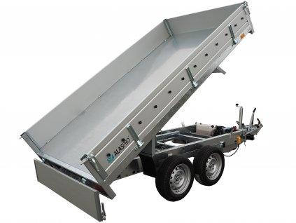 jednostranný sklápěcí přívěsný vozík 2700 kg alaspro