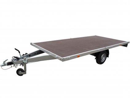 jednoosé brzděné plato přívěsný vozík alaspro
