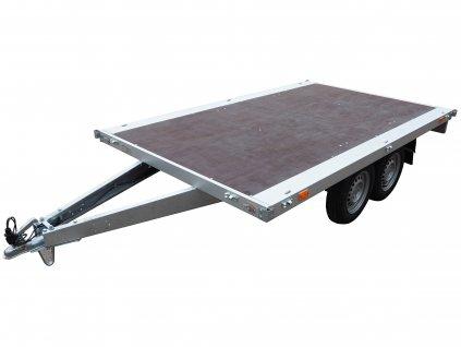dvousé nebrzděné plato plošina přívěsný vozík 750 kg alaspro