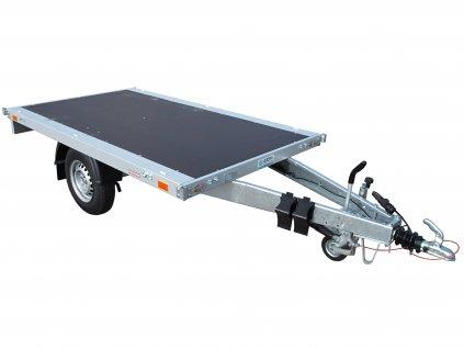 brzděné jednoosé plato 1300 kg přívěsné vozíky alaspro