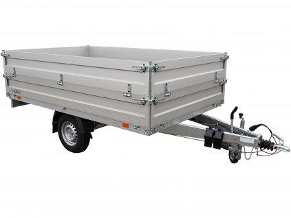 přívěsný vozík s nástavbou bočnic 700 mm