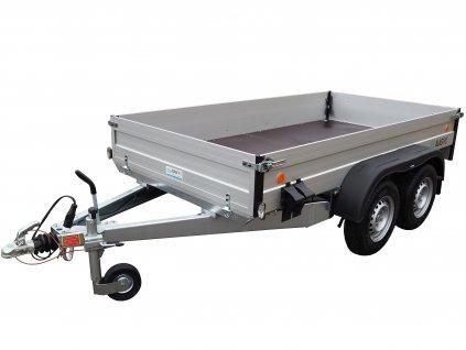 hliníkový přívěsný vozík dvě nápravy