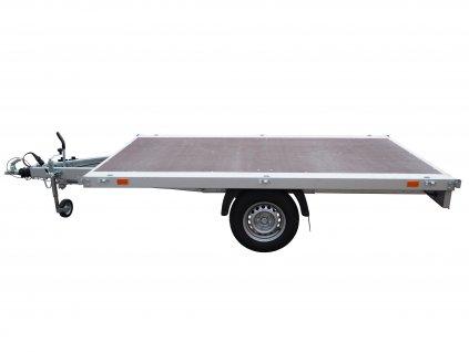 plošinový vozík jednoosý brzděný 750 kg