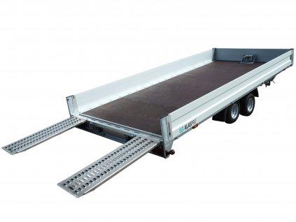 hydraulicky sklopný přívěsný vozík 5 m alaspro