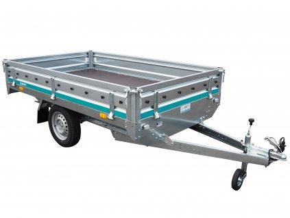 jednoosý nebrzděný přívěsný vozík 2500x1500