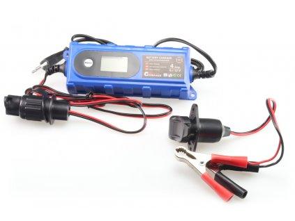 Nabíječka víceúčelová s redukcí pro nabíjení hydraulických sklápěčů LCD displej