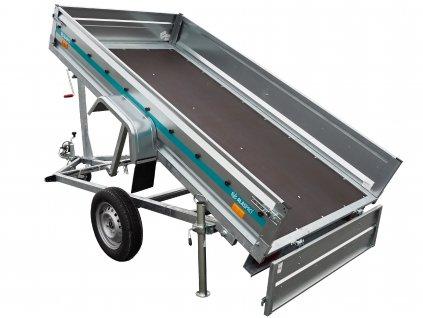jednostranný nebrzděný sklápěcí přívěsný vozík alaspro