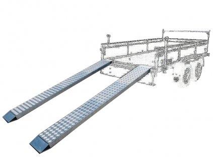 ocelové nájezdy 2500mm 2500kg