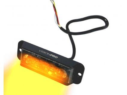 Výstražná záblesková svítilna VISIONPRO, 4x LED, oranžová, plochá