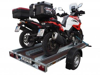 Nebrzděný přepravník motocyklů APV 750kg 2540x1550mm