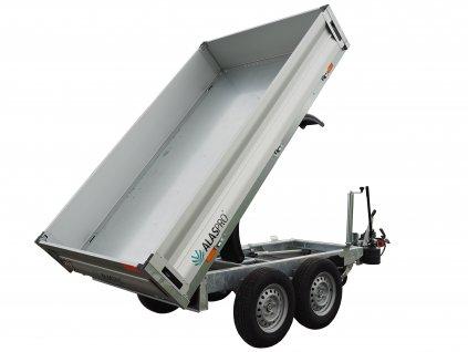 jednostranný sklápěcí přívěs s ruční hydraulikou 2700 kg