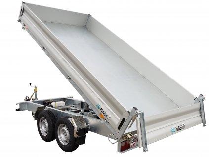 třístranný sklápěcí přívěsný vozík 3600x1800 mm