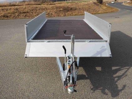 přívěsný vozík dvouosý valník alaspro