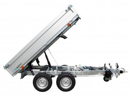 dvouosý hydraulicky sklopný přívěsný vozík