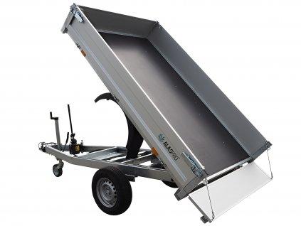 hydraulicky sklopný valníkový přívěsný vozík