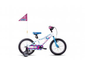 POWERKID 16 WHITE / BLUE / PINK