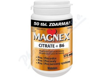 Magnex citrate 375 mg+B6  (tbl 100+50)
