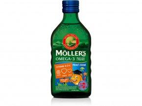 Möller's Omega 3 rybí olej ovocná příchuť 250 ml