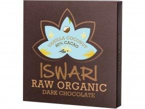 Bio Čokoláda kokosový krém - Vanilka 60% 75g