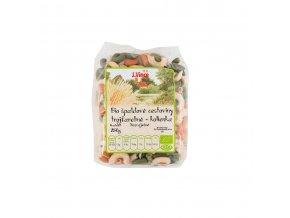 Bio Těstoviny špaldové trojbarevné kolínka 250g