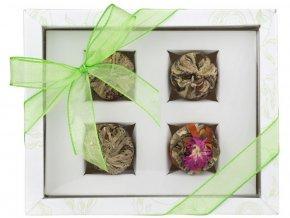 Adikia bílá set kvetoucích čajů
