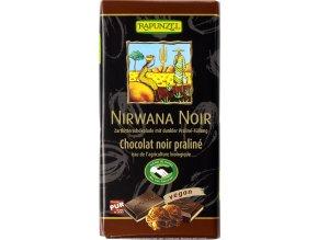 Bio Hořká čokoláda s nugátovou náplní 50% Nirwana Noir 100g
