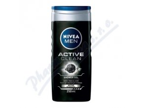 NIVEA Sprchový gel muži ACTIVE CLEAN  (250ml)