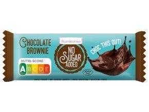 Tyčinka Čokoláda Brownie bez přidaného cukru 50g