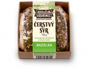 Bio Čerstvý sýr Bazalka 110g