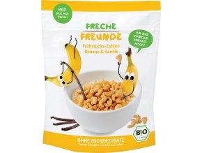 Bio Cereálie Křupavá čísla Banán a vanilka 125g
