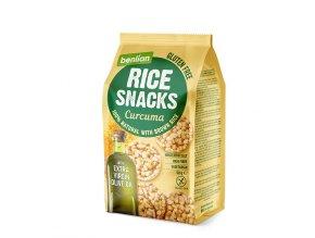 Rýžový slaný snack z hnědé rýže Curcuma 50g