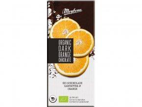 Bio Čokoláda hořká s křupavými pomerančovými granulemi 52% 100g